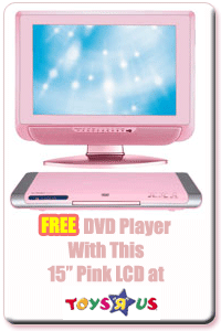 TWF 15 Inch Pink LCD TV - free dvd